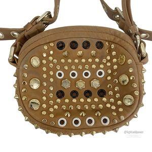 Marc Jacobs Leather Metal Grommet Stud Crossbody